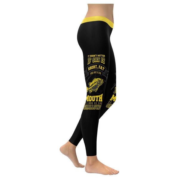 It Doesn't Matter If She Is Short Fat And Has Big Mouth As Long As She Swallows Low Rise Leggings For Women (3 colors)-NeatFind.net