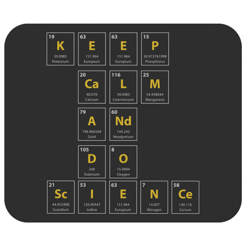 Keep Calm & Do Science Cute Unique Cute Funny Science Chemistry Gift Mouse Pad-NeatFind.net