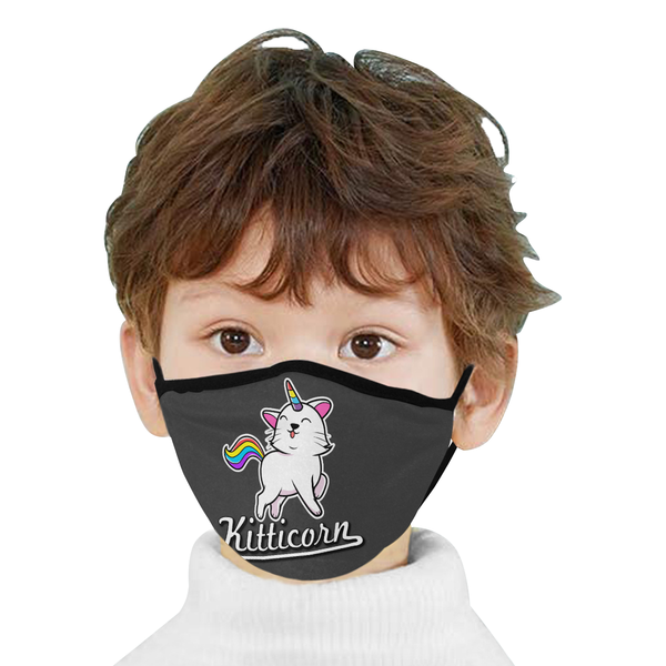 Kitticorn Cat Lovers Washable Reusable Cloth Face Mask With Filter Pocket-Face Mask-NeatFind.net