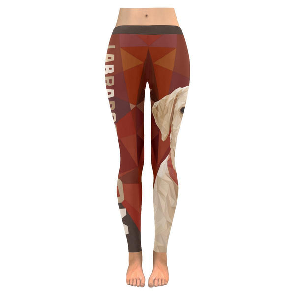 Labrador Retriever Mom Stylish Breathable UPF40 Moisture Wicking Womens Leggings-NeatFind.net