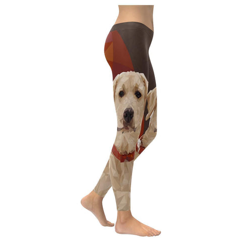 Labrador Retriever Unique UPF40 Moisture Wicking Non See Through Womens Leggings-NeatFind.net
