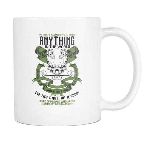 Last Dying Breed Of People Who Arent Afraid To Get Their Hands Dirty White Mug-NeatFind.net