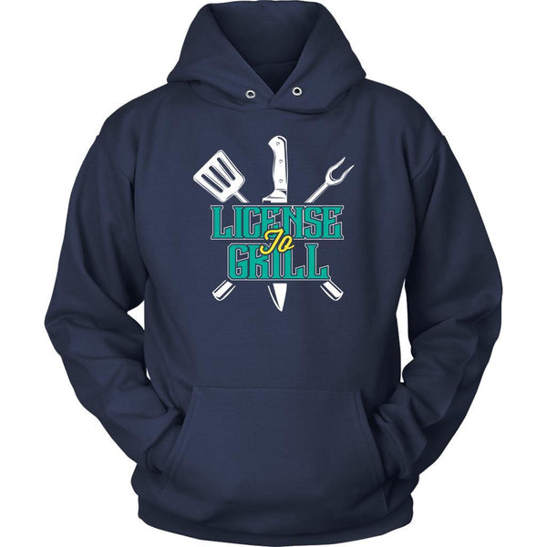 License To Grill Awesome BBQ Cool Funny Gifts Gag Soft Comfy Unisex Hoodie-NeatFind.net