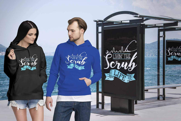 Livin The Scrub Life Awesome Best Cool Unique Nurses Week Gifts Ideas Hoodie-NeatFind.net