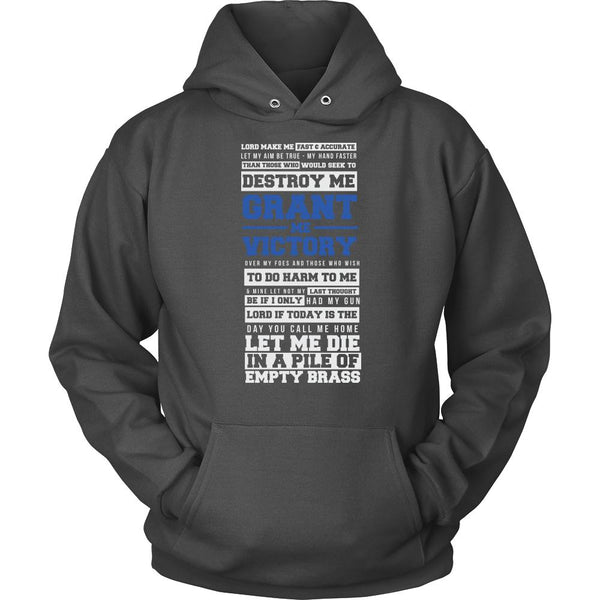 Lord Grant Me Victory Thin Blue Line Blue Lives Matter T-Shirt/Long Sleeve/Crewneck Sweatshirt/Hoodie For Men & Women-NeatFind.net