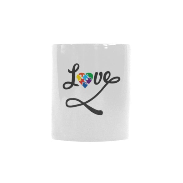 Love And Autism Heart Autism Awareness Color Changing/Morphing 11oz Coffee Mug-NeatFind.net