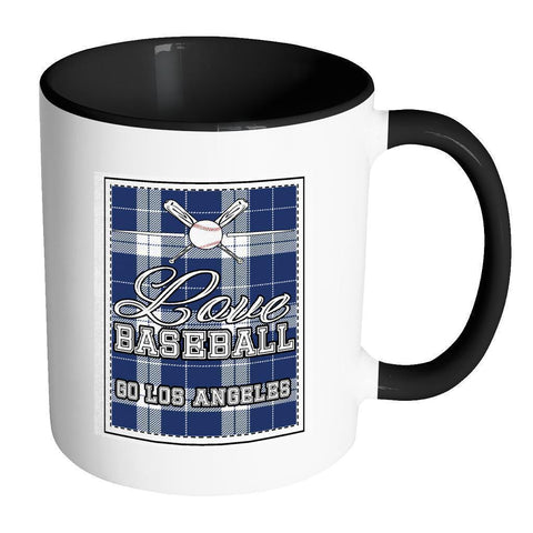 Love Baseball Go Los Angeles Fan Gifts Checkered Plaid Cool 11oz 7Colors Mug-NeatFind.net