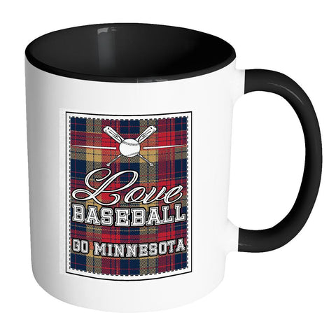 Love Baseball Go Minnesota Fan Gifts Checkered Plaid Cool 11oz 7Colors Mug-NeatFind.net