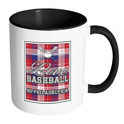 Love Baseball Go Philadelphia Fan Gifts Checkered Plaid Cool 11oz 7Colors Mug-NeatFind.net