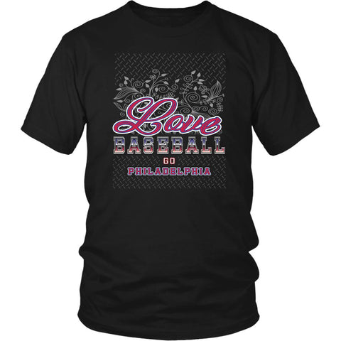 Love Baseball Go Philadelphia Fan Gifts Diamond Plate Cool Unisex TShirt-NeatFind.net