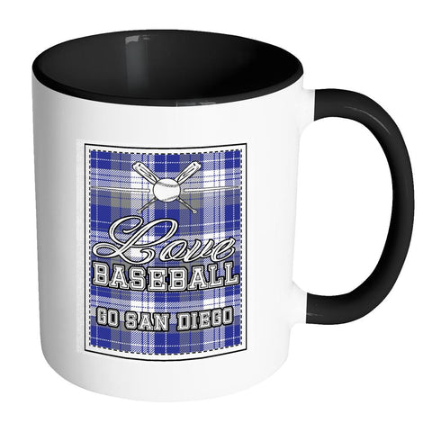 Love Baseball Go San Diego Fan Gifts Checkered Plaid Cool 11oz 7Colors Mug-NeatFind.net