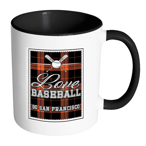 Love Baseball Go San Francisco Fan Gifts Checkered Plaid Cool 11oz 7Colors Mug-NeatFind.net