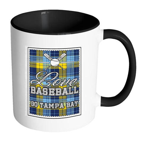 Love Baseball Go Tampa Bay Fan Gifts Checkered Plaid Cool 11oz 7Colors Mug-NeatFind.net