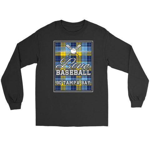 Love Baseball Go Tampa Bay Fan Gifts Checkered Plaid Cool Long Sleeve Shirt-NeatFind.net
