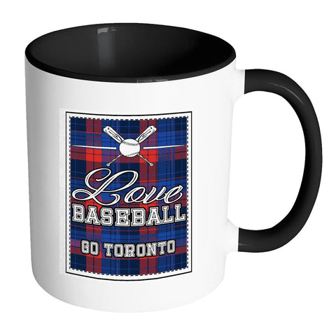 Love Baseball Go Toronto Fan Gifts Checkered Plaid Cool 11oz 7Colors Mug-NeatFind.net