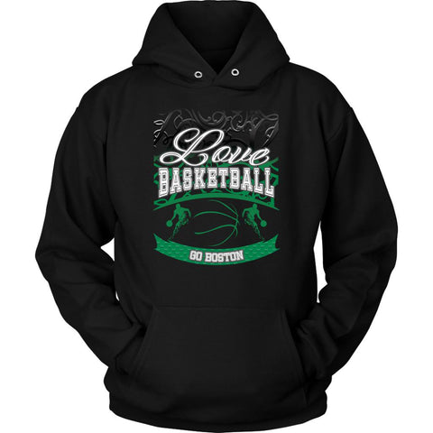 Love Basketball Go Boston Fan Gifts Gradient Vine Cool Unisex Hoodie-NeatFind.net