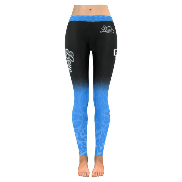 Love Basketball Go Dallas Fan Gradient Color Dye Soft UPF40+ Womens Leggings-NeatFind.net