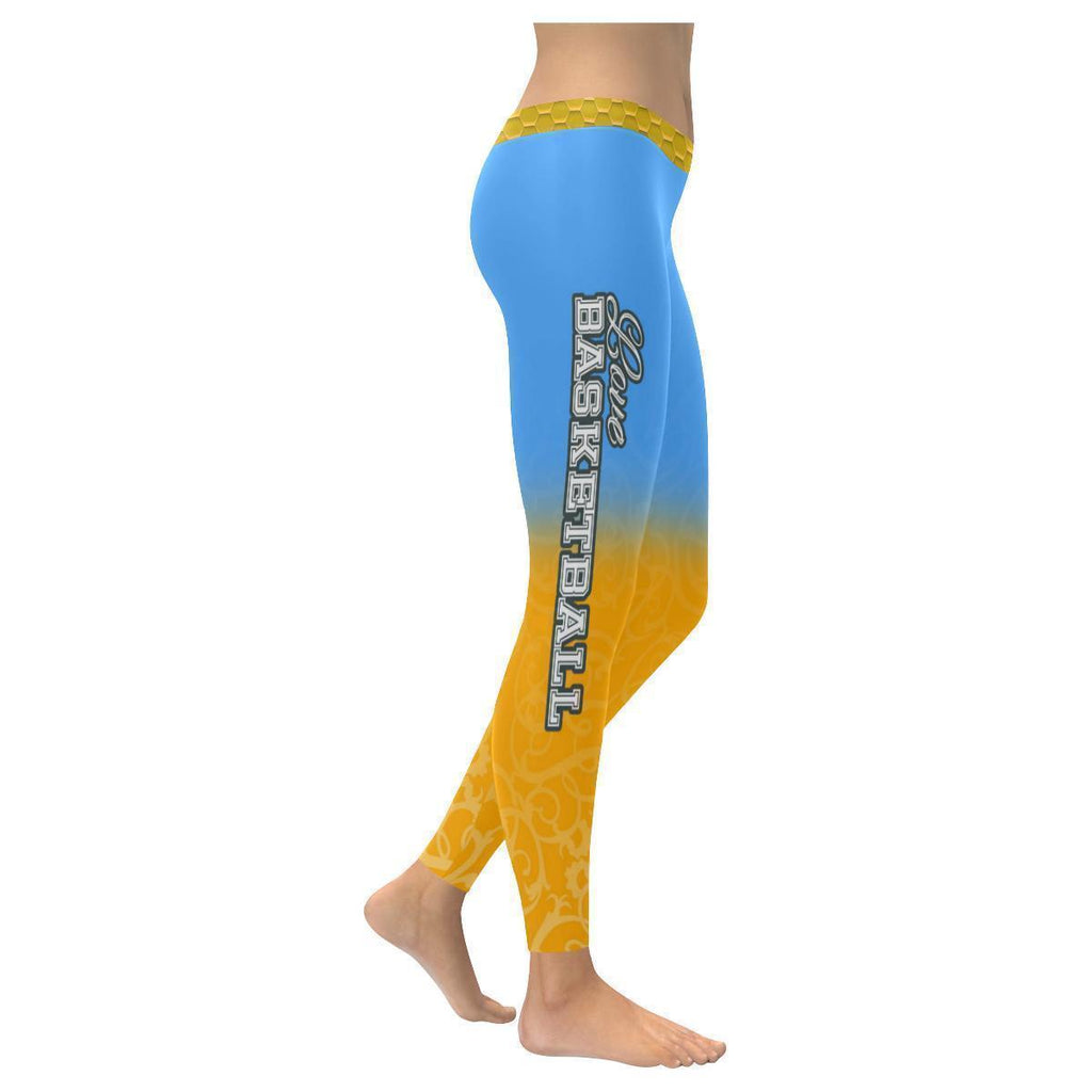 Love Basketball Go Denver Fan Gradient Color Dye Soft UPF40+ Womens Leggings-NeatFind.net