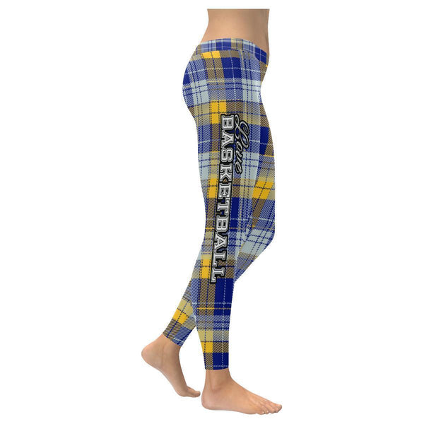 Love Basketball Go Indiana Fan Plaid Checkered Soft UPF40+ Womens Leggings-NeatFind.net