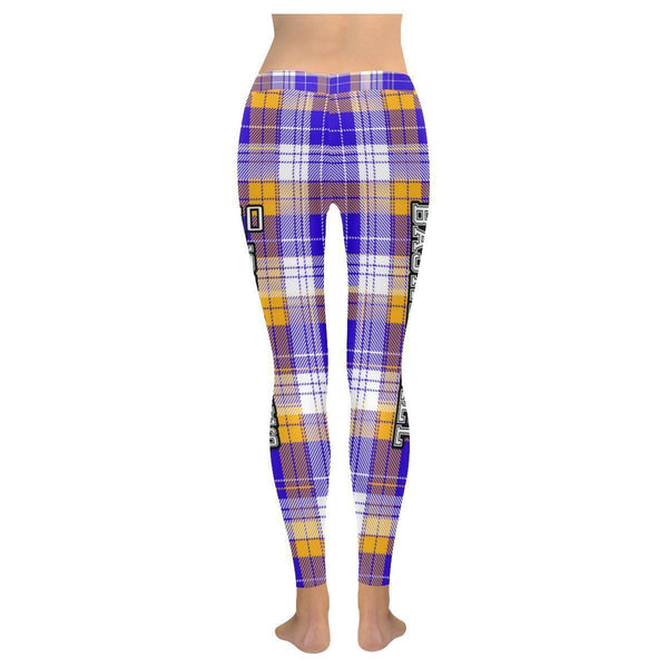 Love Basketball Go Los Angeles Fan Gifts Checkered Plaid UPF40+ Womens Leggings-NeatFind.net