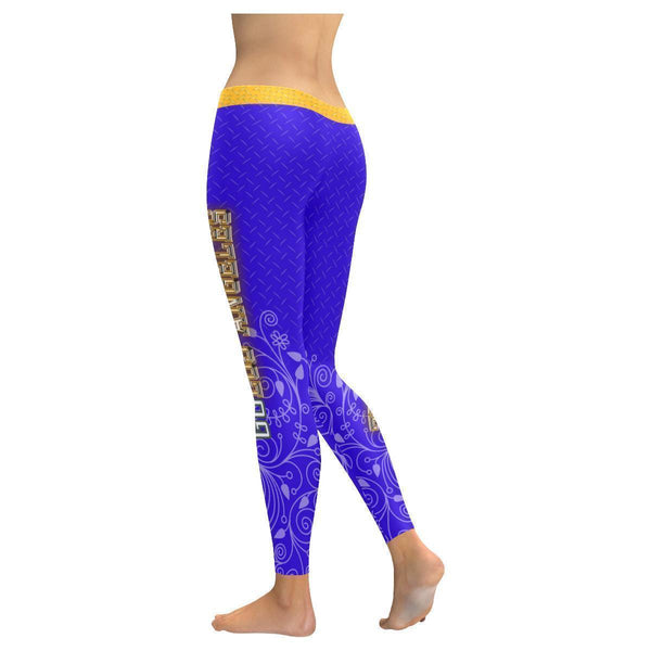 Love Basketball Go Los Angeles Fan Gifts Diamond Plate UPF40+ Womens Leggings-NeatFind.net
