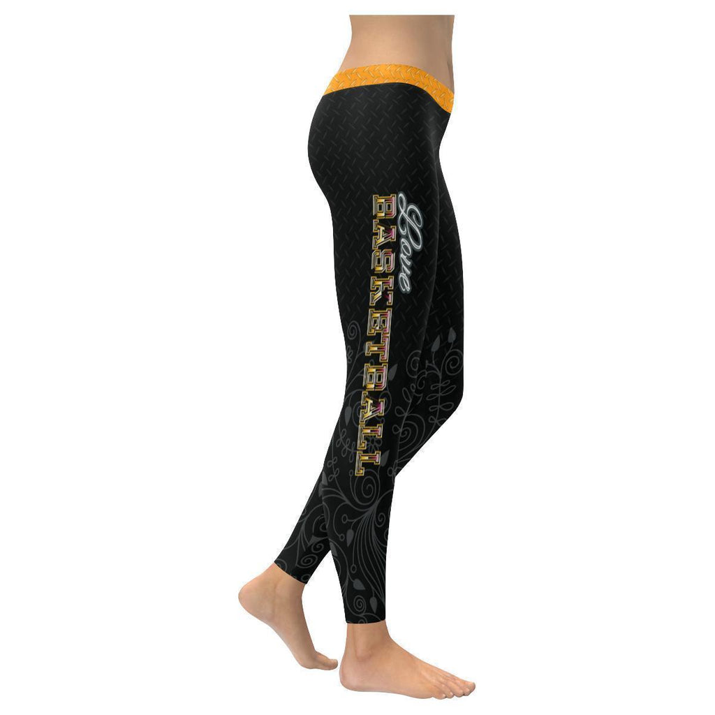 Love Basketball Go Miami Fan Diamond Plate Soft UPF40+ Womens Leggings-NeatFind.net