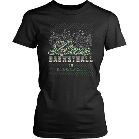 Love Basketball Go Milwaukee Fan Gifts Diamond Plate Awesome T-Shirt-NeatFind.net