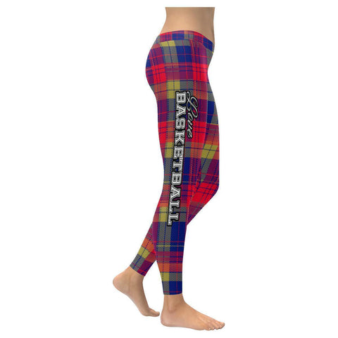 Love Basketball Go New Orleans Fan Plaid Checkered Soft UPF40+ Womens Leggings-NeatFind.net