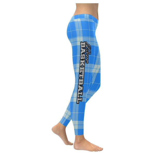 Love Basketball Go Orlando Fan Plaid Checkered Low Rise Leggings For Women-NeatFind.net