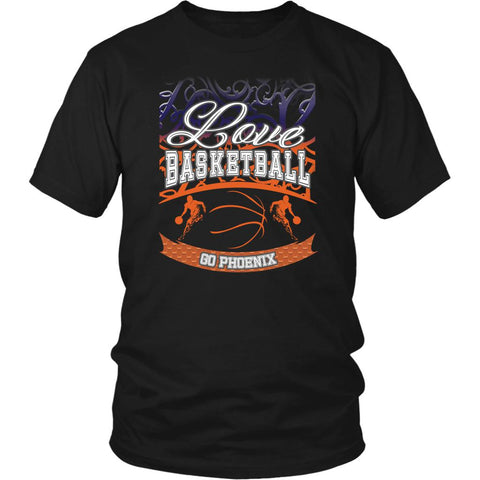 Love Basketball Go Phoenix Fan Gifts Gradient Vine Men Unisex T-Shirt-NeatFind.net