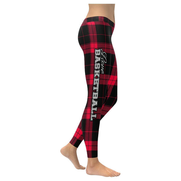 Love Basketball Go Portland Fan Plaid Checkered Soft UPF40+ Womens Leggings-NeatFind.net