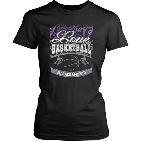 Love Basketball Go Sacramento Fan Gifts Gradient Vine Hip Women TShirt-NeatFind.net