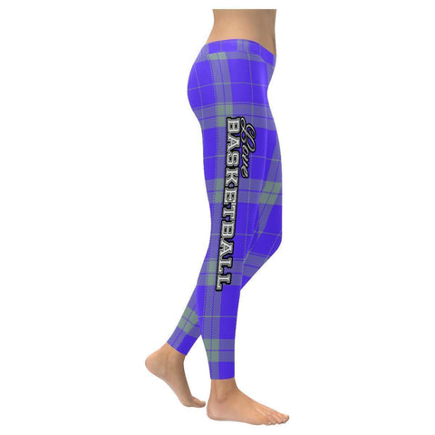 Love Basketball Go Sacramento Fan Plaid Checkered Soft UPF40+ Womens Leggings-NeatFind.net