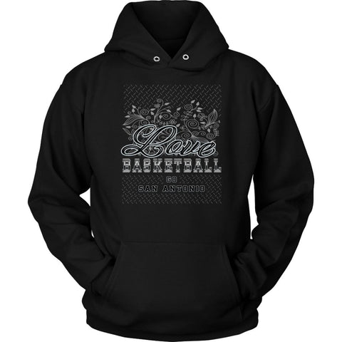 Love Basketball Go San Antonio Fan Gifts Diamond Plate Cool Hoodie-NeatFind.net