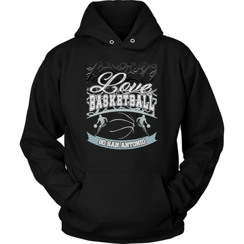 Love Basketball Go San Antonio Fan Gifts Gradient Cool Unisex Hoodie-NeatFind.net