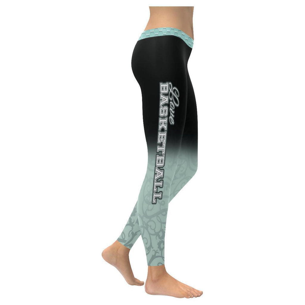 Love Basketball Go San Antonio Fan Gradient Color Dye Soft UPF40+ Women Leggings-NeatFind.net
