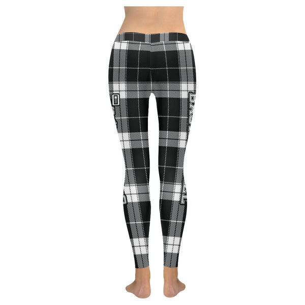 Love Basketball Go San Antonio Fan Plaid Checkered Soft UPF40+ Womens Leggings-NeatFind.net
