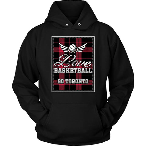 Love Basketball Go Toronto Fan Gifts Checkered Plaid Cool Unique Hoodie-NeatFind.net