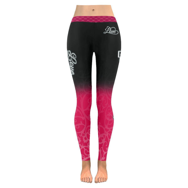 Love Basketball Go Toronto Fan Gradient Color Dye Soft UPF40+ Womens Leggings-NeatFind.net