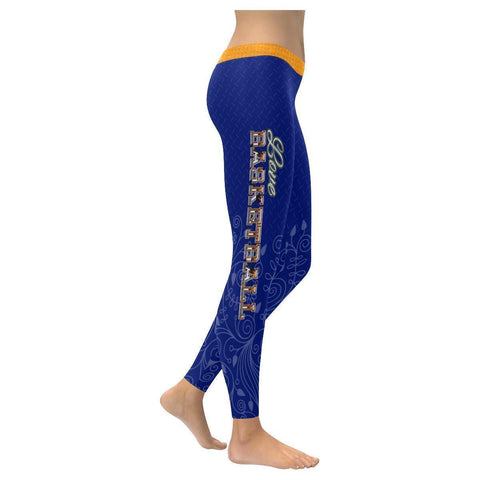 Love Basketball Go Utah Fan Diamond Plate Non See Through UPF40+ Womens Leggings-NeatFind.net