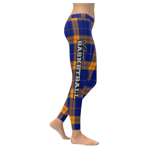 Love Basketball Go Utah Fan Plaid Checkered Soft UPF40+ Womens Leggings-NeatFind.net
