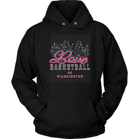 Love Basketball Go Washington Fan Gifts Diamond Plate Unique Hoodie-NeatFind.net