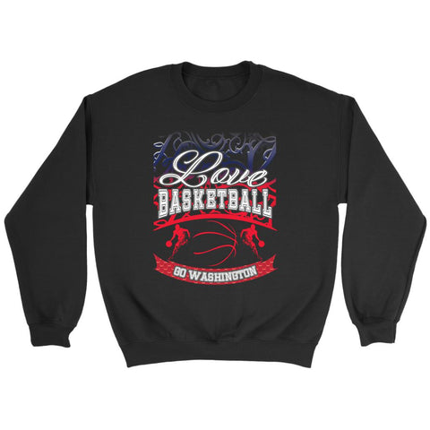 Love Basketball Go Washington Fan Gifts Gradient Crewneck Sweatshirt-NeatFind.net