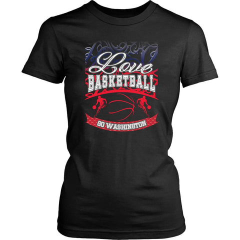 Love Basketball Go Washington Fan Gifts Gradient Vine Hip Women TShirt-NeatFind.net