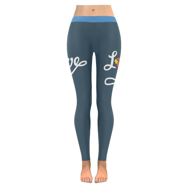 Love Completes The Puzzle Heart Autism Awareness Product Gift Idea Women Legging-NeatFind.net