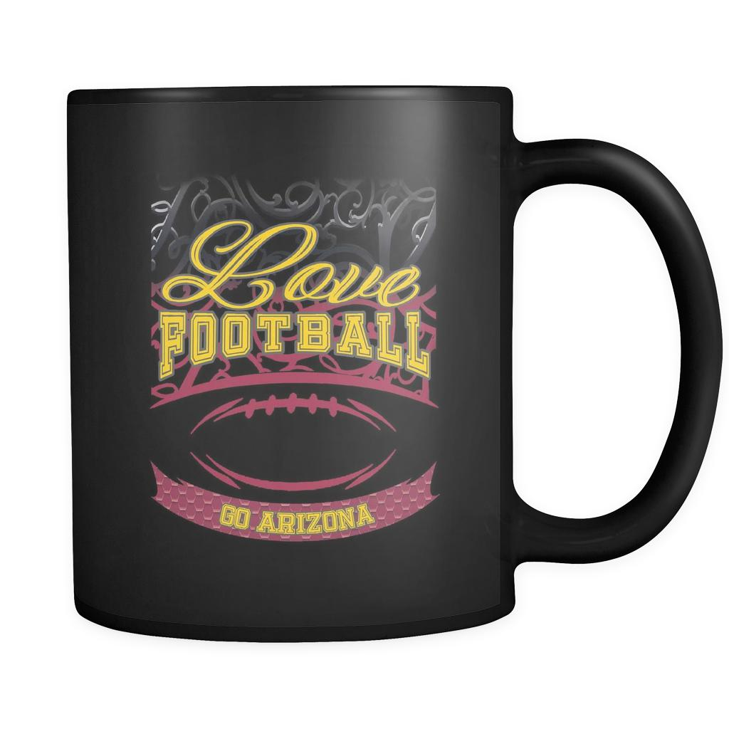 Love Football Game Go Arizona Fan Apparel Gear Gradient Color Gift Black 11oz Coffee Mug-NeatFind.net