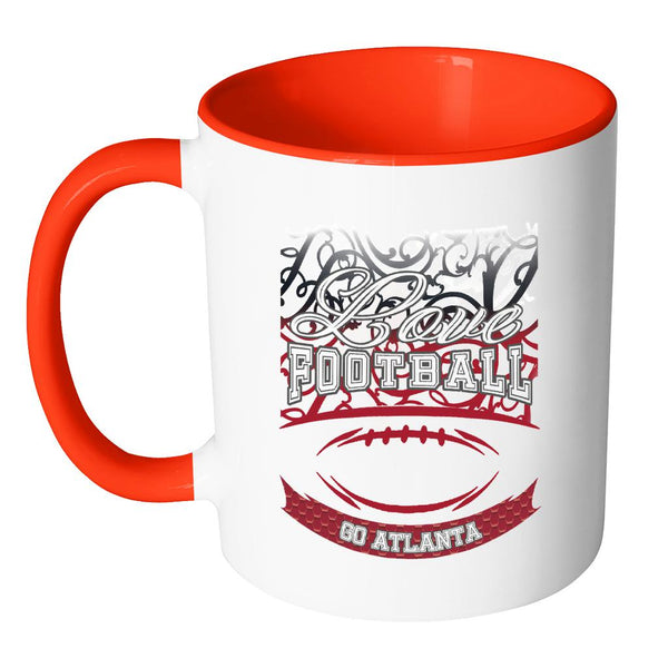 Love Football Game Go Atlanta Fan Apparel Gear Gradient Color Gift 11oz Accent(7 Colors)-NeatFind.net