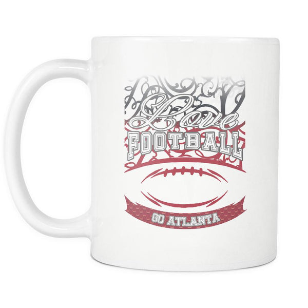 Love Football Game Go Atlanta Fan Apparel Gear Gradient Color Gift White 11oz Coffee Mug-NeatFind.net
