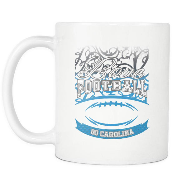 Love Football Game Go Carolina Fan Apparel Gear Gradient Color Gift White 11oz Coffee Mug-NeatFind.net