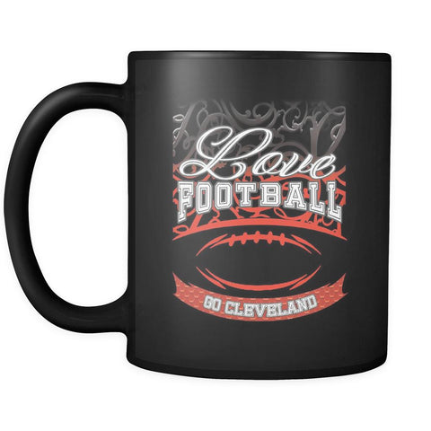 Love Football Game Go Cleveland Fan Apparel Gear Gradient Color Gift Black 11oz Coffee Mug-NeatFind.net